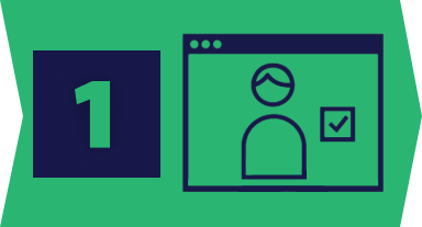 building block one icon in green